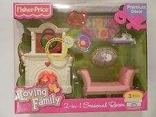 Fisher Price Loving Family Dollhouse Living Room Lights & Sounds Cats