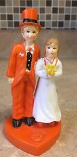 CLEMSON TIGERS COLLEGE FOOTBALL WEDDING CAKE TOPPER SPORTS FUNNY