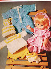 "Dolls Clothes knitting pattern for 12"" doll. Laminated  copy. (V Doll 139)"