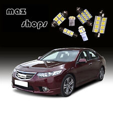 12Pcs Interior White LED Light Bulbs Package Kit For  Honda Accord 2003-2012