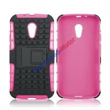 Shock Proof Rugged Armor Heavy Duty Hybrid Hard Case Stand Cover For Samsung