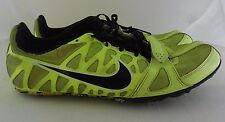 Men's Nike Zoom Rival S Track Shoes w spikes Size 11 EURO 45 Neon Green