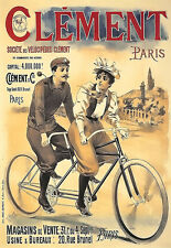Art Ad Clement Bicycle Tandem Bikes Deco  Poster Print