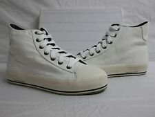 Calvin Klein Size 8 M Genie White Canvas High Top Sneakers New Womens Shoes