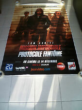 MISSION IMPOSSIBLE GHOST PROTOCOLE 4x6 ft Bus Shelter D/S Movie Poster Original