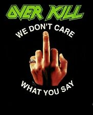 "OVERKILL cd lgo F*CK YOU / WE DON""T CARE WHAT YOU SAY Official SHIRT SML New OOP"