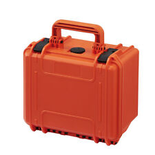 Small Waterproof Gear Tool Protective Hard Case Box MAX235H155 w/ Foam Orange