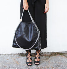 MAXI BORSA GRANDE CATENE Simile falabella  black BAG CHAIN NERA Stella McCartney