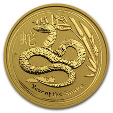 2013 2 oz Gold Australian Perth Mint Lunar Year of the Snake Coin - SKU #71320