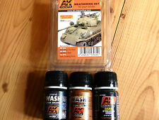 AK Interactive Weathering Set For Green Vehicles Enamel Colours For Models