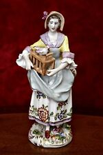 Antique German 'Sitzendorf' Porcelain Lady Figurine