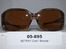 05-895 Women's Oakley Betray Sunglasses Cork / Bronze NWOT