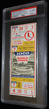 1968 WORLD SERIES GAME 7 FULL TICKET DETROIT TIGERS CLINCH 3RD TITLE PSA RARE!
