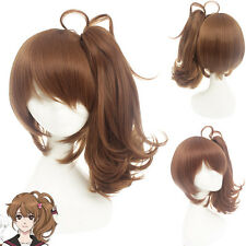 Women Lolita Long Curly Light Brown Ponytail Synthetic Hair Cosplay Wig