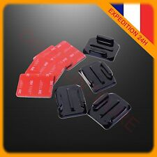 4 SUPPORTS INCURVES ADHESIFS 3M GOPRO FIXATIONS CASQUE MOUNT STICKERS HERO 3 4 5