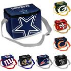 NFL Football Team Big Logo Zipper Lunch Bag - 6 Pack Cooler - Pick your team!