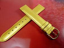 17 mm GOLD / GELB UHRENARMBAND DORNSCHLIEßE ARMBAND LACKLEDER UHRENBAND