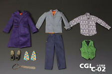 Custom Joker Heath Ledger 2.0 1/6 Costume DX01 DX11 Jacket Pants Suit shoes set