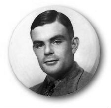 """ALAN TURING - 25mm 1"""" Button Badge - Cute Novelty Imitation Game Enigma Pride"""