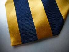 BROOKS BROTHERS Navy Gold Classic Satin Stripe Silk Tie  NWOT ~ NEW ~XL