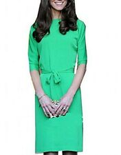 Glamorous Celebrity dress princess Kate Half Sleeve Green Dress(J435)