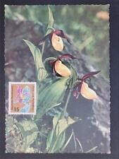BUND MK 1963 FLORA ORCHIDEEN ORCHIDS MAXIMUMKARTE CARTE MAXIMUM CARD MC CM c6443