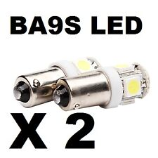 BA9S LED X 2 TOP QUALITY SUPER WHITE. Normal polarity