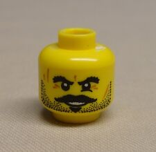 NEW Lego Minifig Head Stubble Moustache Goatee Bushy Eyebrows Scars and Smile
