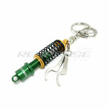 Tein Damper Coilover Shock Key Chain Key Holder Key Ring Green / Gold Genuine