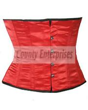 Shaper Cincher Taillen Waspie Full Steel Bone Spiral Waist Bust Red Satin Corset