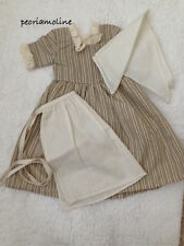 Old Stock American Girl Felicity WORK GOWN Outfit Apron Kercheif Dress NEW! 3 PC
