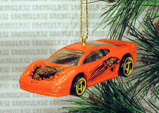 JAGUAR XJ220 ORANGE YELLOW BLACK SPORTS CAR CHRISTMAS ORNAMENT XMAS