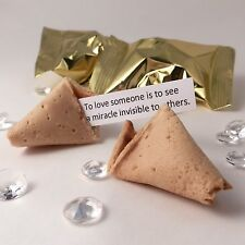 Fortune Cookies: Wedding Quotes - Box of 100 - Gold wrapper