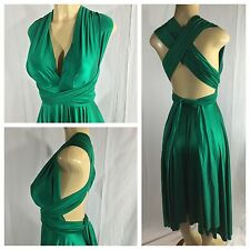 $268 Butter by Nadia Emerald Christmas Green One Size Stretch Convertible Dress