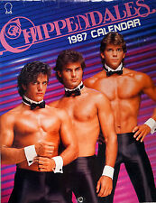 VINTAGE Chippendales Calendar 1987 VERY RARE (COLLECTORS ITEM)