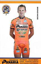 CYCLISME carte cycliste BROWN GRAEME équipe PANARIA ceramica