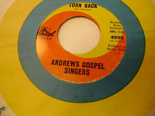 Andrews Gospel Singers He's A Might God/I Won't Turn 45 RPM Capitol Records EX