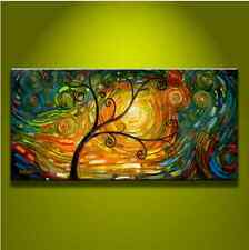 Modern Abstract Art Oil Painting on canvas- tree Art ( no framed)