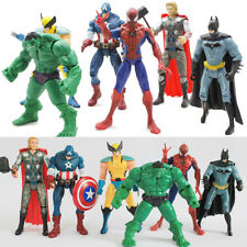 6X Marvel The Avengers Hulk+Captain+Wolverine+Batman+Spiderman Figure Collection