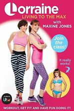 Lorraine Kelly Living to the Max Fitness Training Workout Maxine Jones DVD New