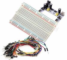Mini Prototype breadboard & k2 Power Supply & 65 pcs Wire cable electronic deck