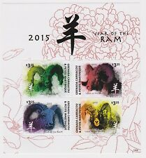 Grenada Grenadines - Lunar New Year, Year of the Ram 2015 - 1502 Sheet of 4 MNH