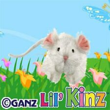 Webkinz Lil Kinz White Mouse HS207 NEW with attached UNUSED code FREE Shipping!!