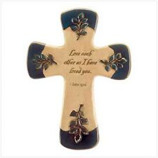Love Letters Wall Cross Ceramic and Multi-Color