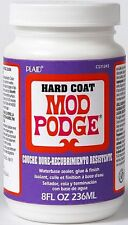 8oz HARD COAT MOD PODGE WATER BASED CLEAR SEALER GLUE & DURABLE FINISH CRAFT