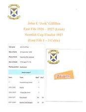 JOCK GILFILLAN EAST FIFE 1926-1927 SCOTT CUP FINAL 1927 RARE HAND SIGNED CUTTING