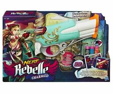 Nerf Rebelle Charmed Intrépide+a 2 Bracelet À Breloques + 3 Jeux De Fléchettes.