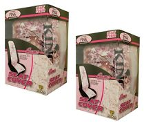 2pc KING'S CAMO PINK SHADOW CAMOUFLAGE SEAT COVERS - UNIVERSAL BUCKET-  Lot of 2