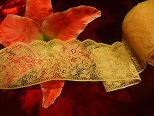 3  m X 6 CM,5 tres large dentelle rose  calais des lots dispo non coupés=belle