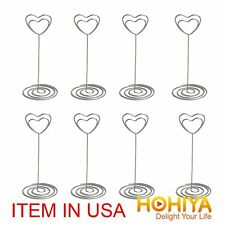 48 Crystal Heart Place Card Name Holders Table Number Decoration Wedding Favors